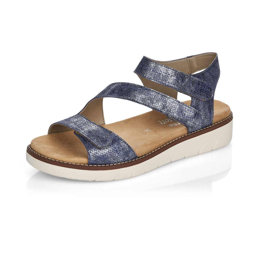 Remonte D2050-14 Blue metallic strap sandal Sizes - 37 to 42 Price - £62