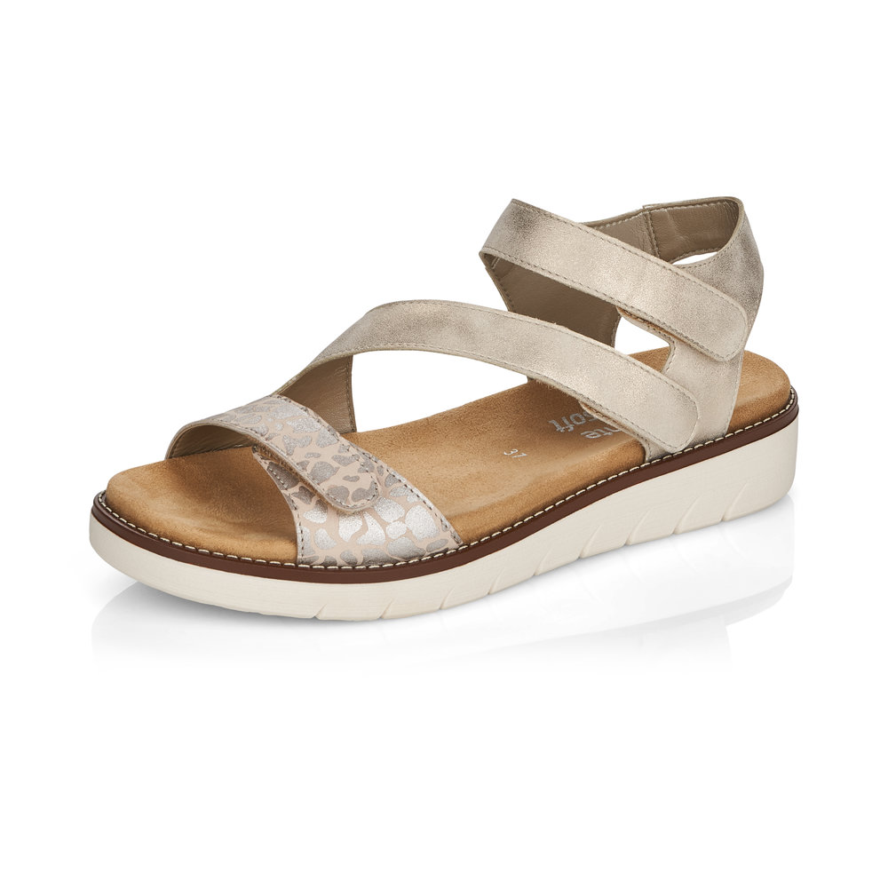 Remonte D2050-60 Pearl metallic strap sandal Sizes - 37 to 41 Price - £62