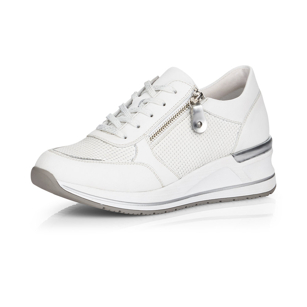 Remonte D3201-80 White zip lace shoe Sizes - 36 to 41 Price - £72