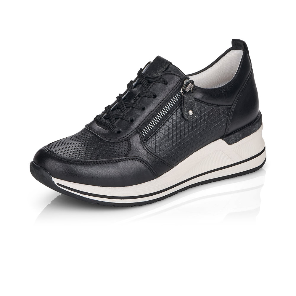 Remonte D3207-01 Black zip lace shoe Sizes - 37 to 41 Price - £75