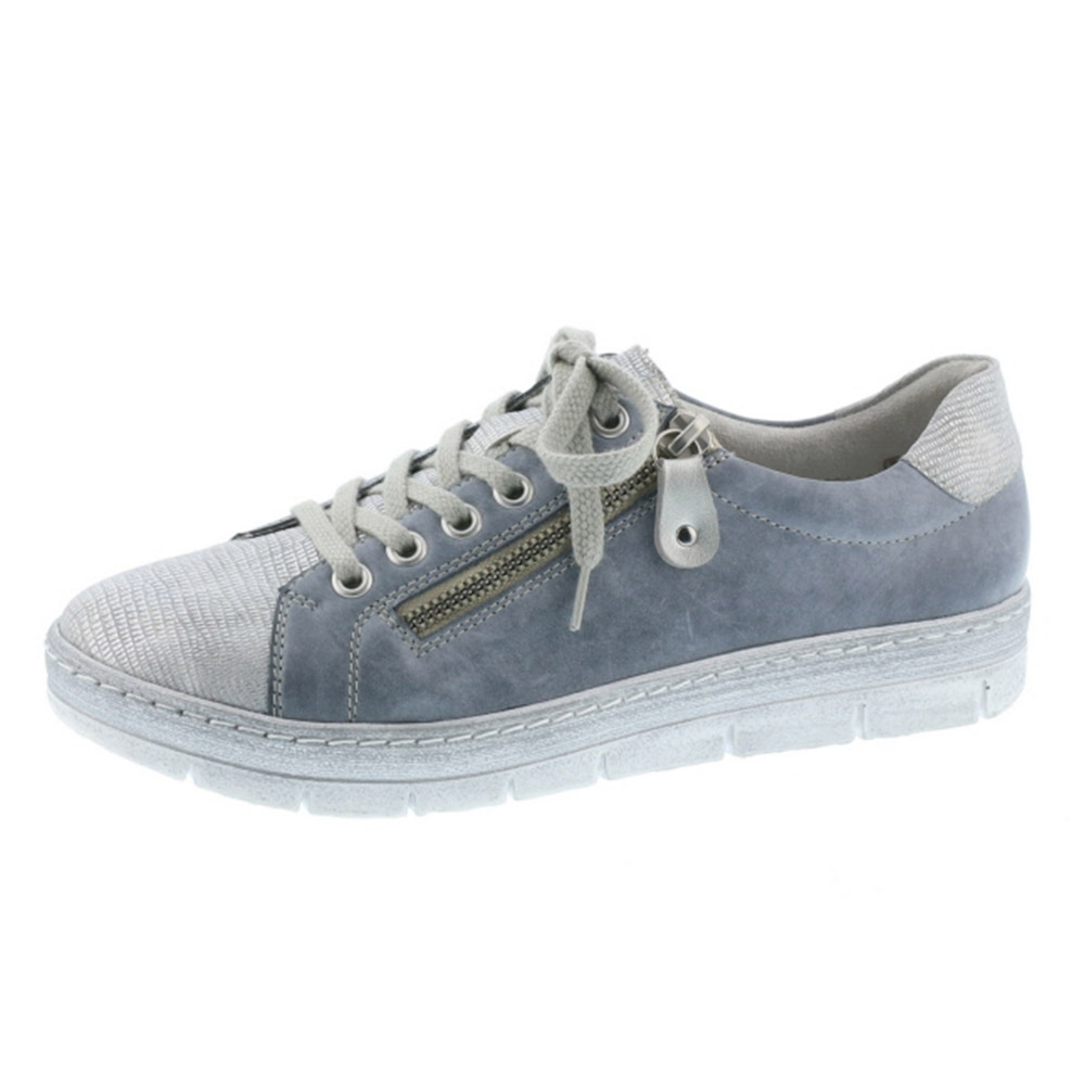 Remonte D5800-13 jeans silver lace zip shoe Sizes - 37, 39 and 40. Price - £ 69.00