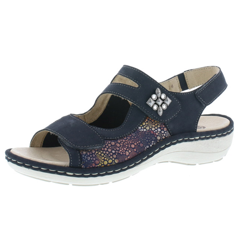 Remonte D7647- 14 navy multi sandal Sizes - 37 to 42 Price - £ 62.00