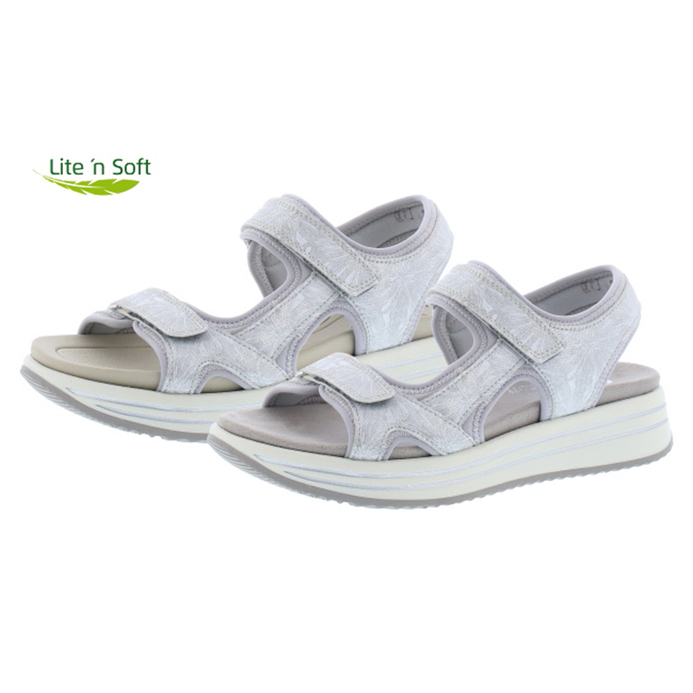 Remonte R2957-40 white grey twin strap sandal Sizes - 37 to 41 Price - £ 67.00