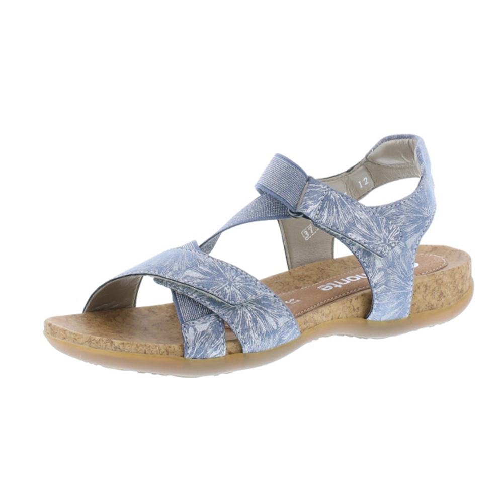 Remonte R3257-12 blue silver cross strap sandal Sizes - 37 to 41 Price - £ 57.00
