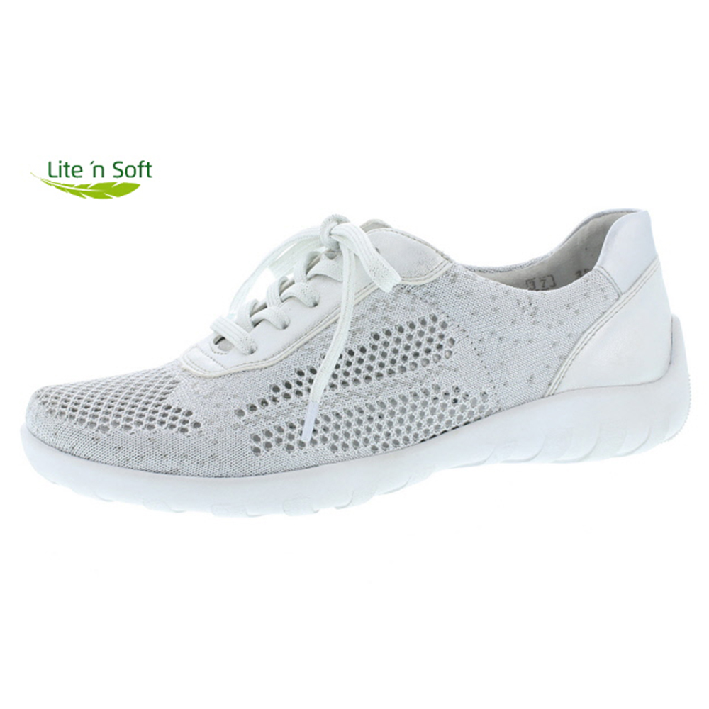 Remonte R3503-80 white silver textile lace shoe Sizes - 37, 38, 41 and 42. Price - £ 65.00