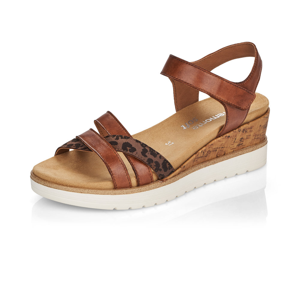 Remonte R6153-24 Tan strap wedge sandal Sizes - 37 to 41 Price - £65