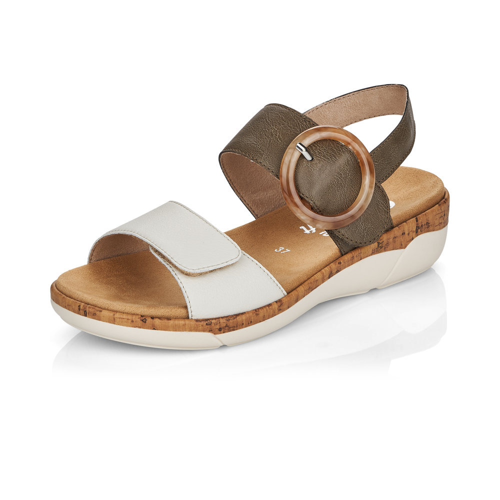 Remonte R6853-54 Forest white strap sandal Sizes - 37 to 41 Price - £62