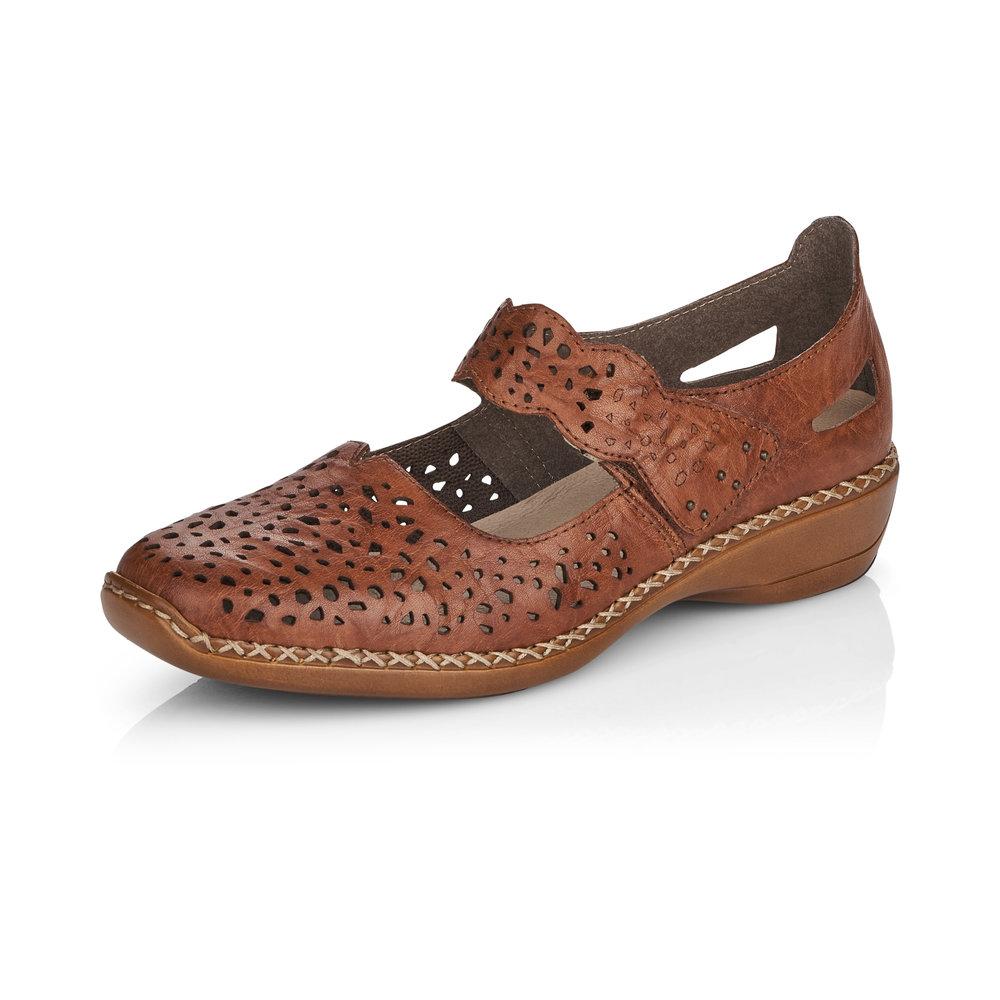 Rieker 41397-22 Chestnut bar shoe Sizes - 37 to 41 Price - £55 Now £49