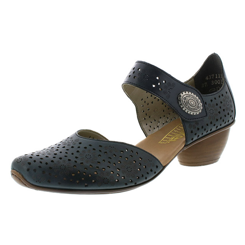 Rieker 43711-15 navy strap heel shoe Sizes - 37 to 42 Price - £57 Now £49