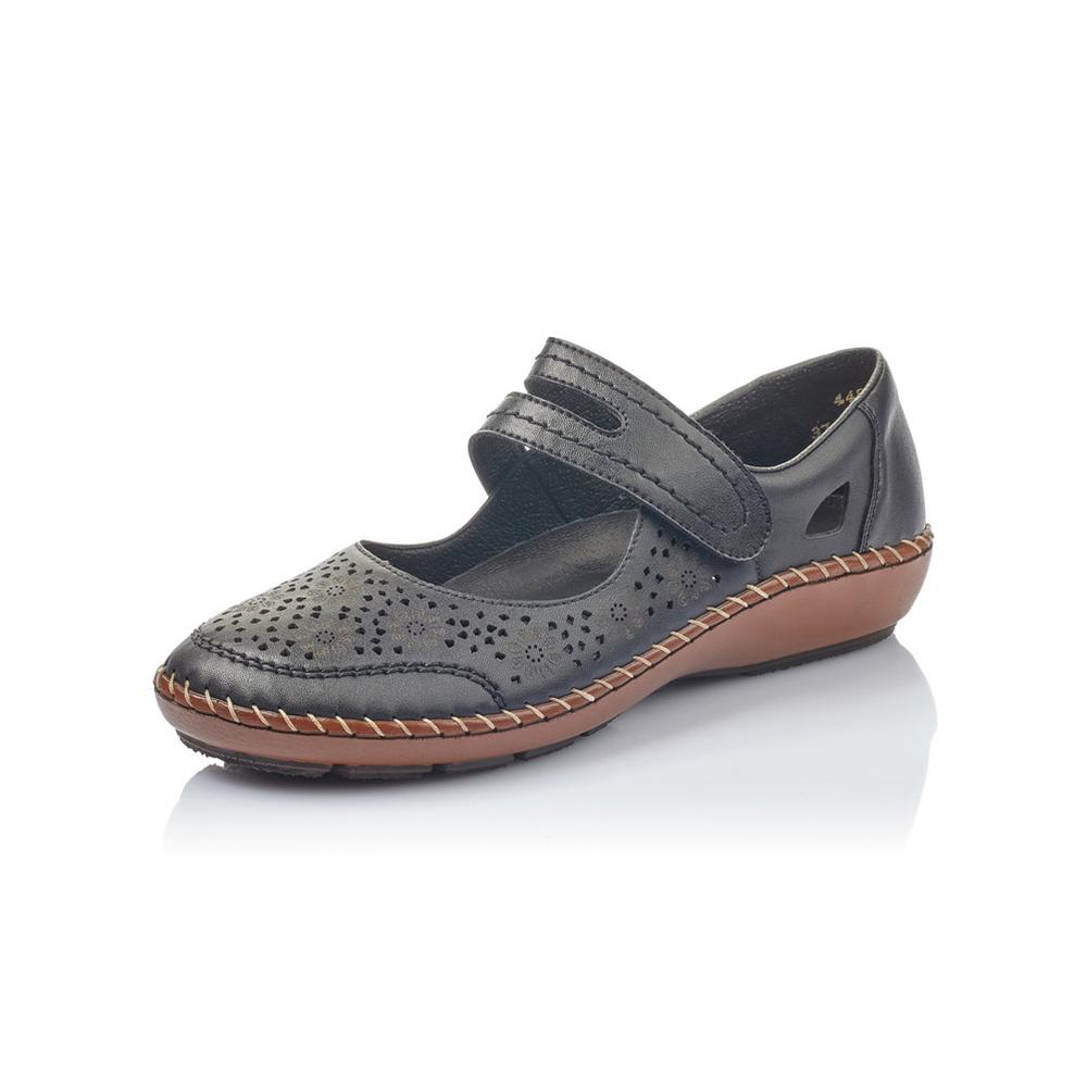 Rieker 44875-00 Black bar shoe Sizes - 37 to 41 Price - £57 Now £49