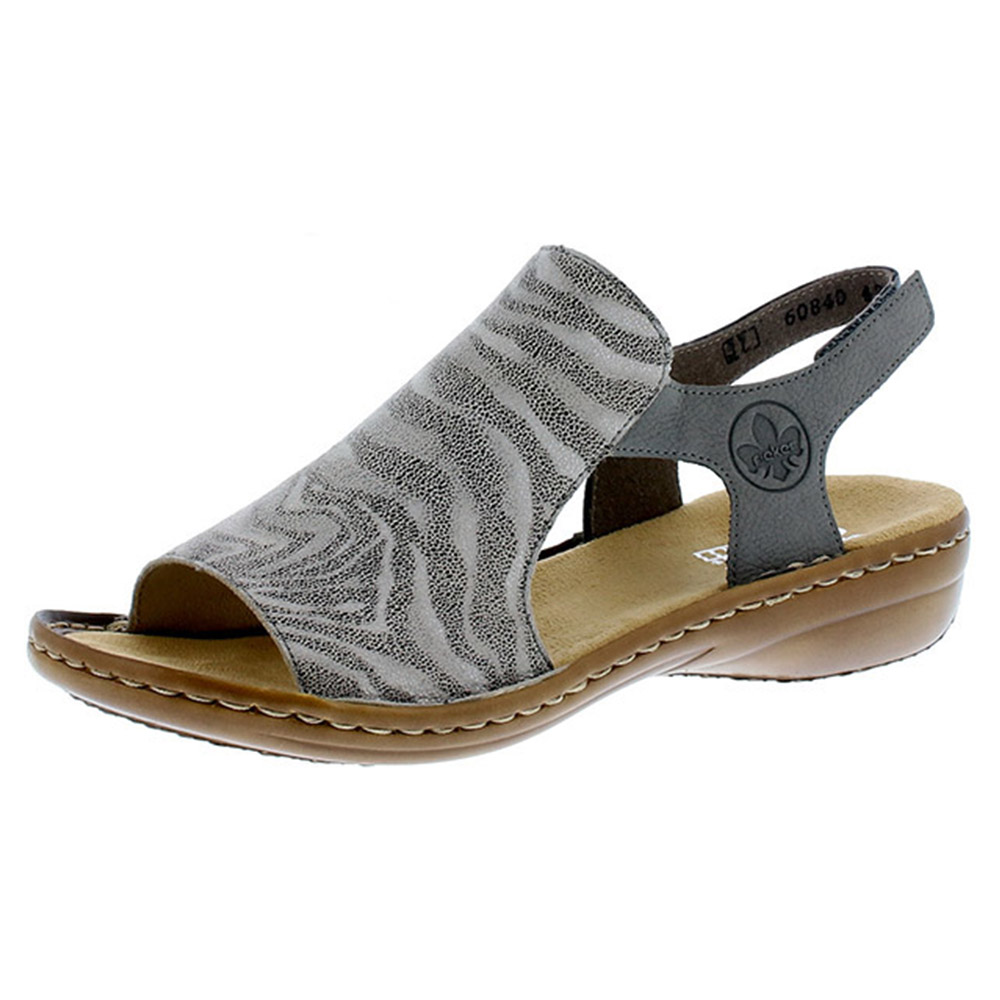 Rieker 60840-42 grey stripe elastic sandal Sizes - 38, 40 and 41. Price - £52