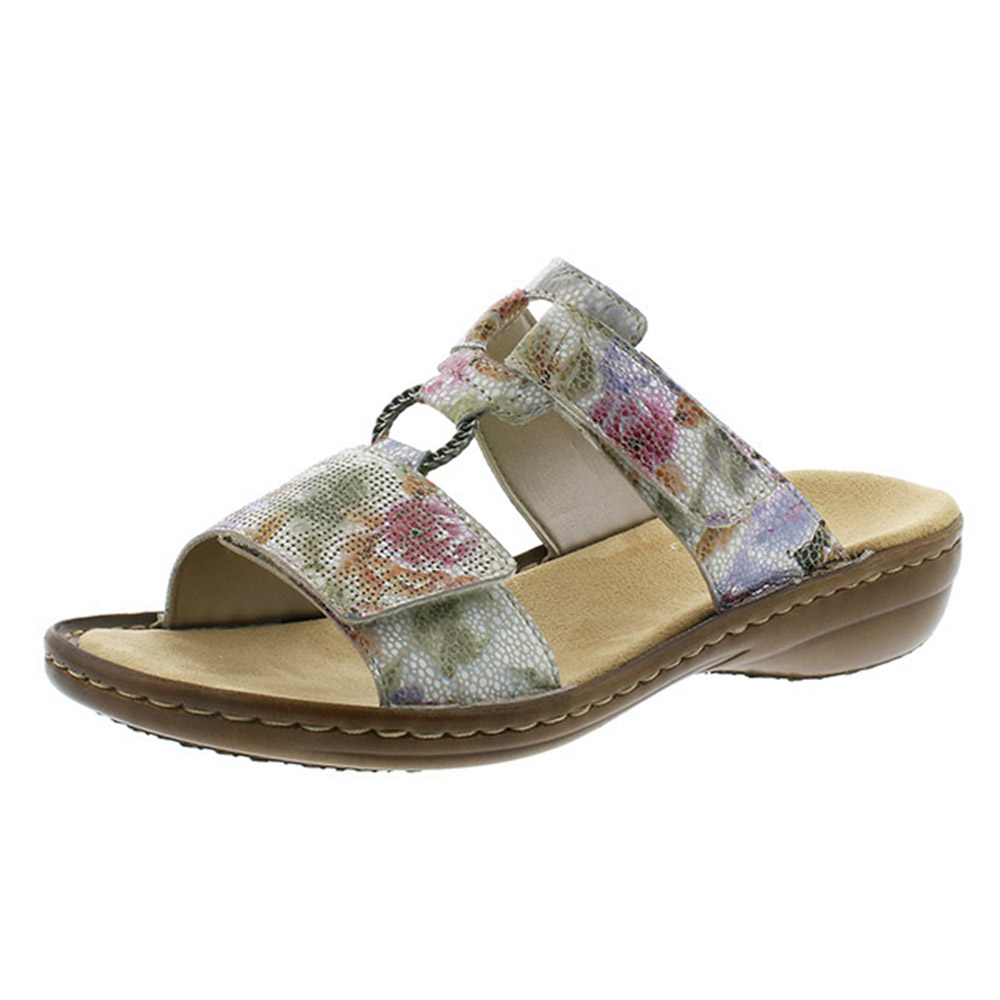 Rieker 60885-90 mosaic multi mule Sizes - 37 to 42 Price - £49 Now £39