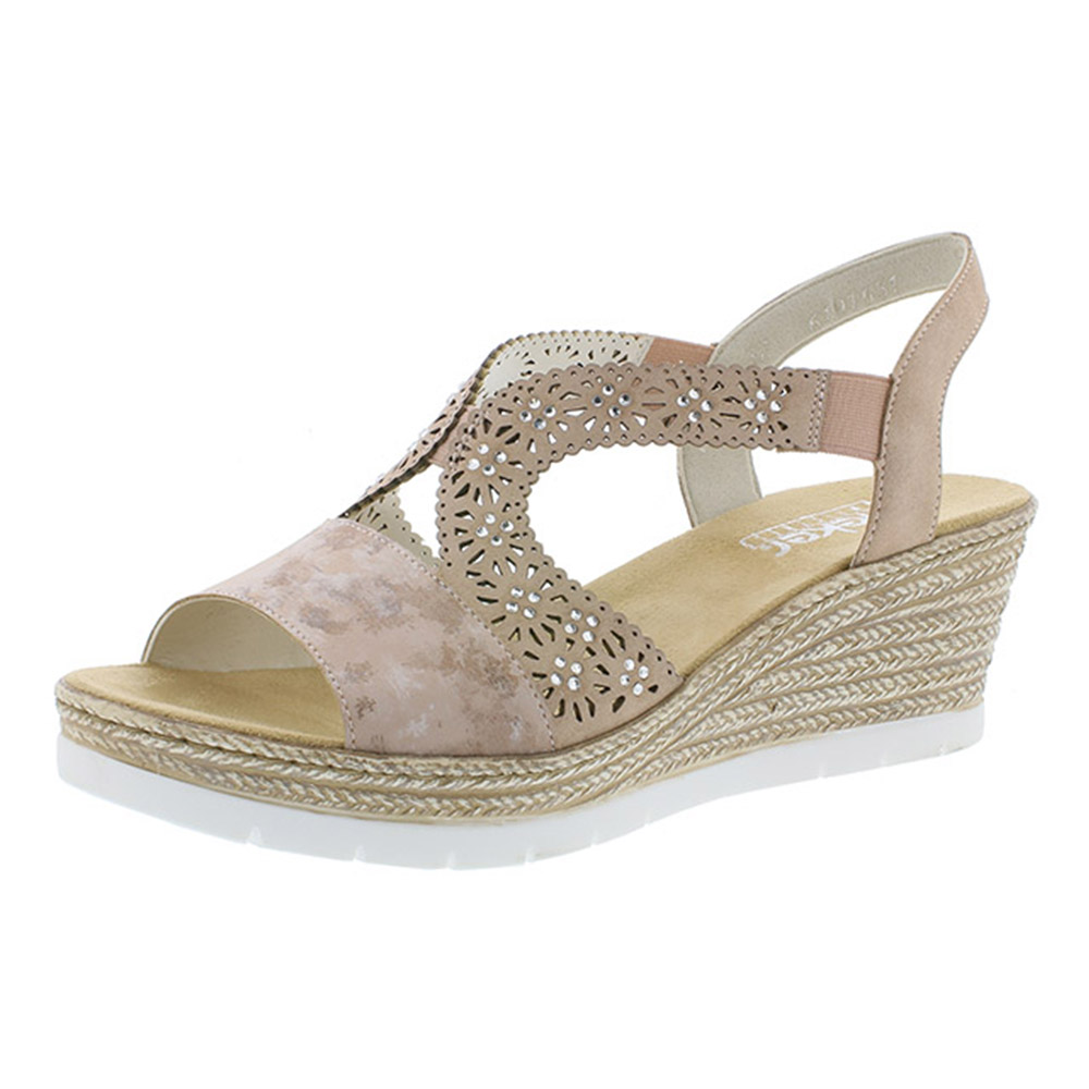Rieker 61916-31 rosa strap wedge sandal Sizes - 39 to 42 Price - £55