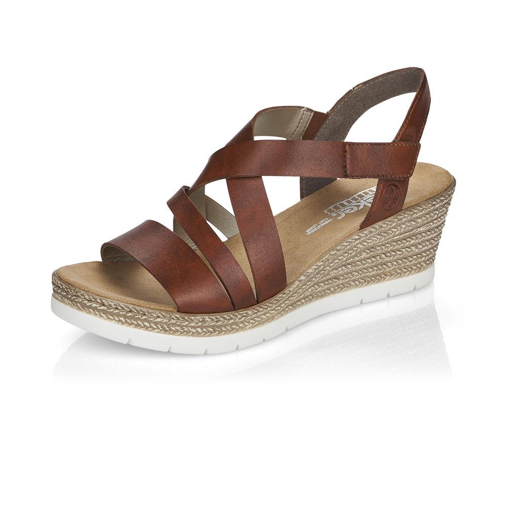 Rieker 61937-24 Tan strap wedge sandal Sizes - 37 to 41 Price - £57 Now £49