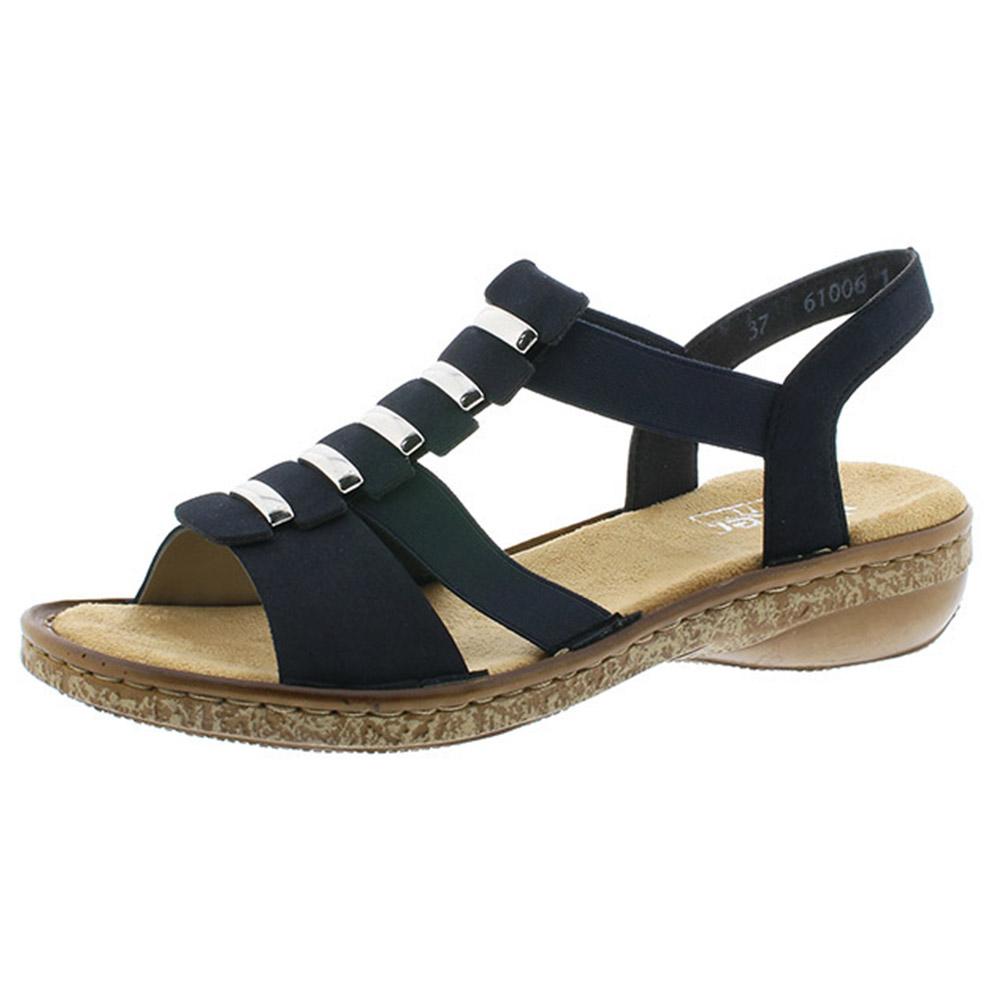 Rieker 62850-14 navy elastic sandal Sizes - 38 to 42 Price - £52 Now £45