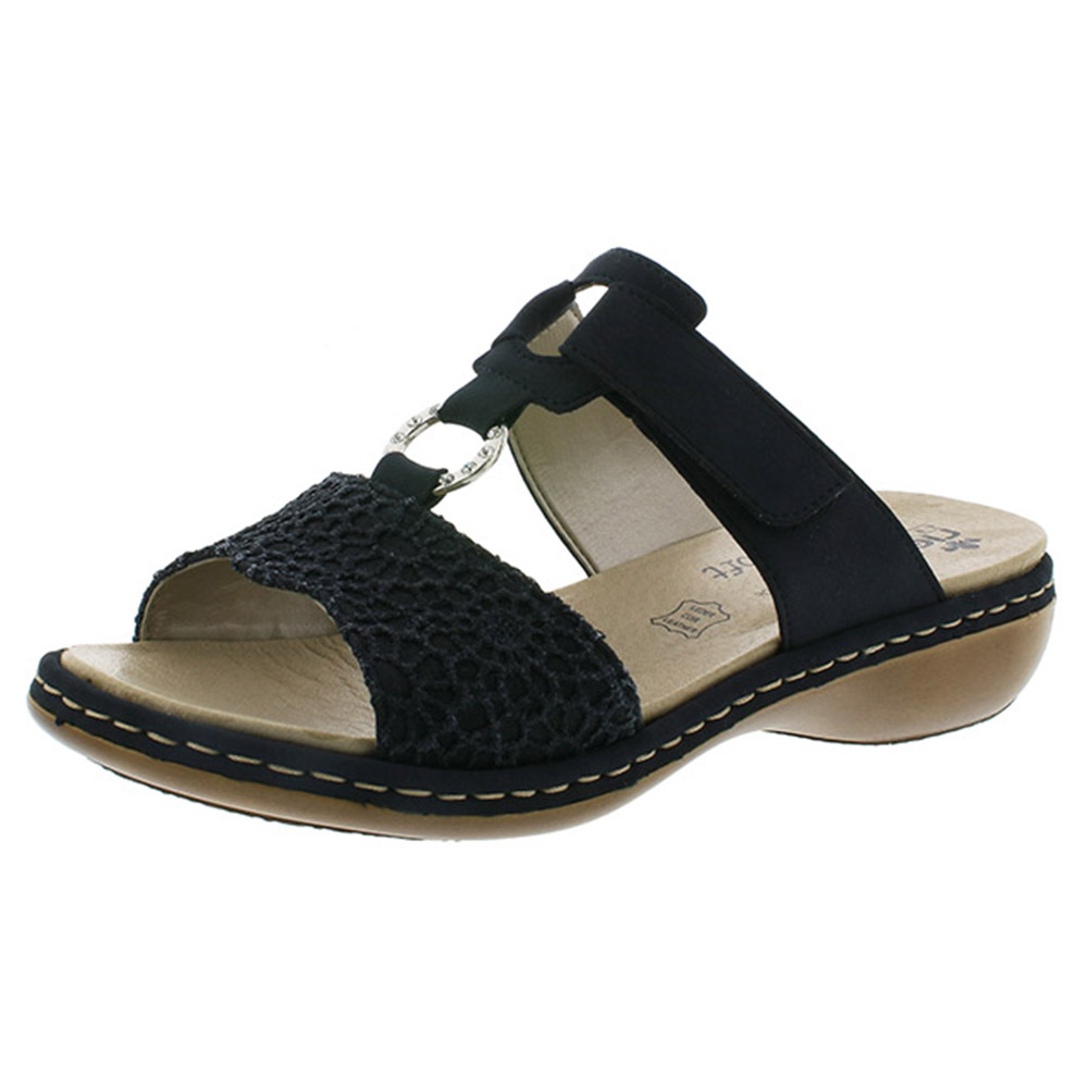 Rieker 65943-15 navy twin strap mule Sizes - 36 to 40 Price - £57