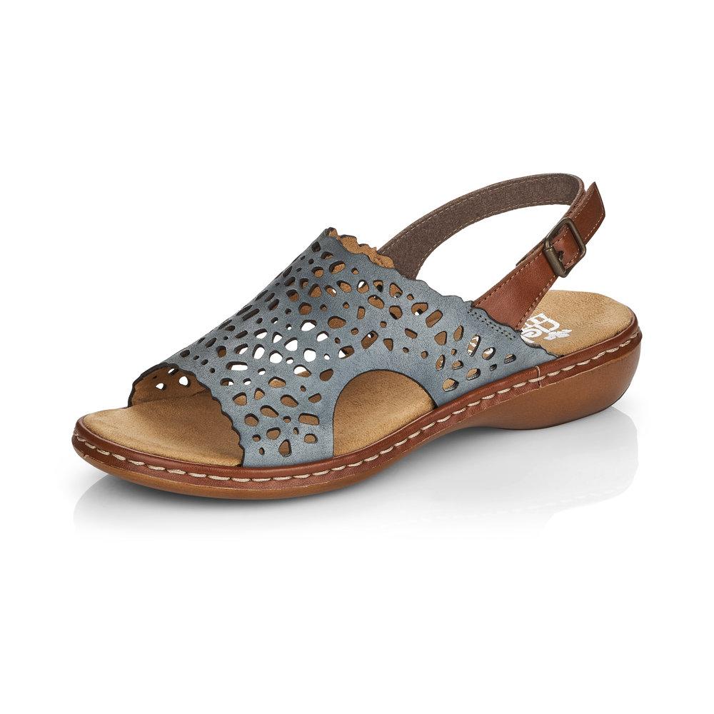 Rieker 65966-12 Blue Tan sandal Sizes - 37 to 41 Price - £55 Now £45