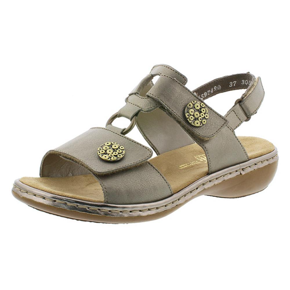 Rieker 65974-90 metallic twin strap sandal Sizes - 37 to 40 Price - £59 Now £49