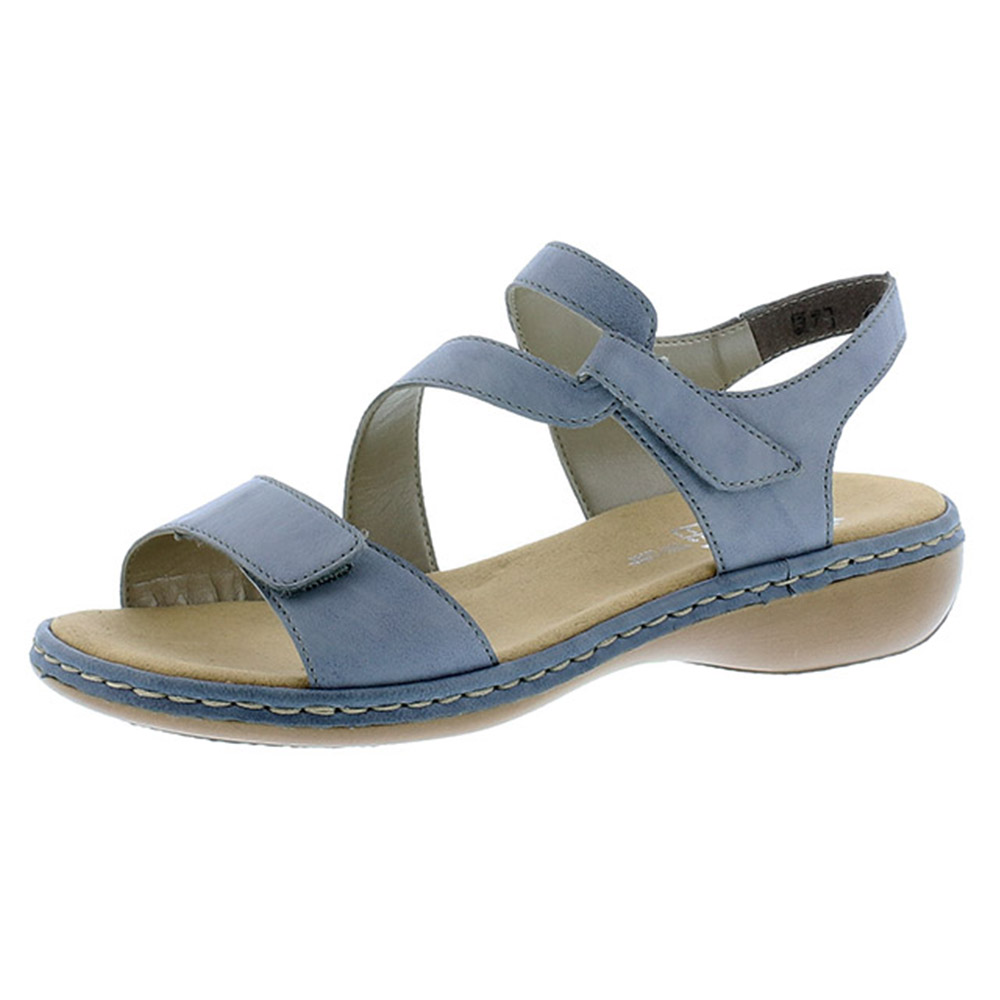 Rieker 659C7-12 pale blue cross sandal Sizes - 38, 40 and 41. Price - £57