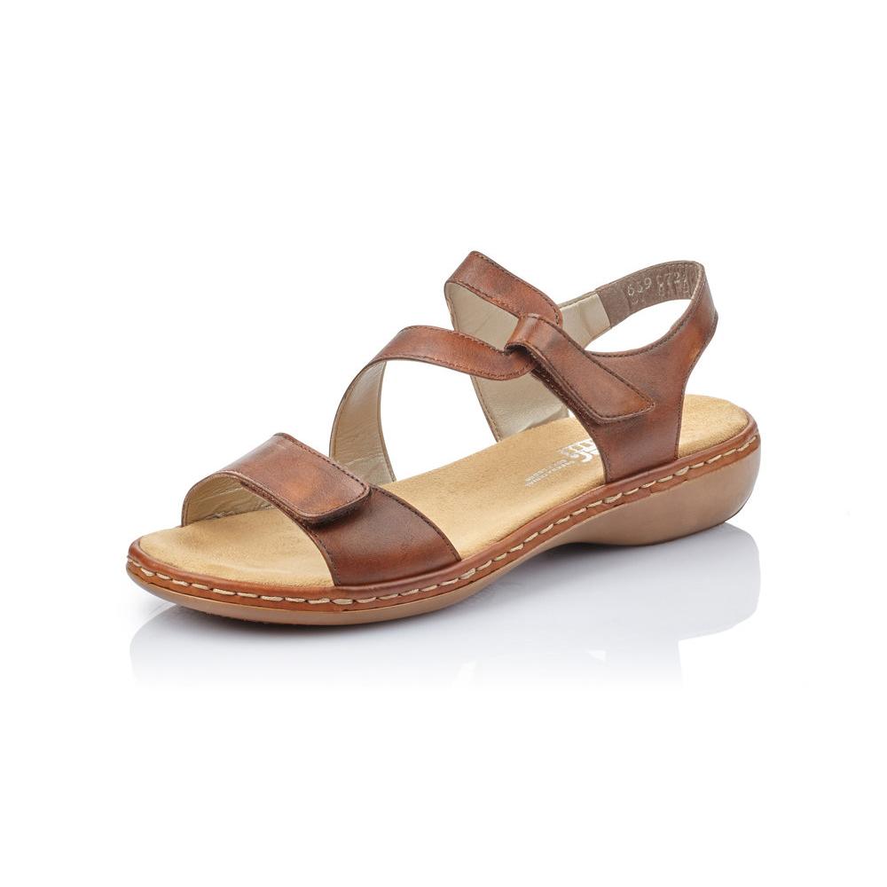 Rieker 659C7-24 Tan velcro strap sandal Sizes - 37 to 42 Price - £57 Now £49