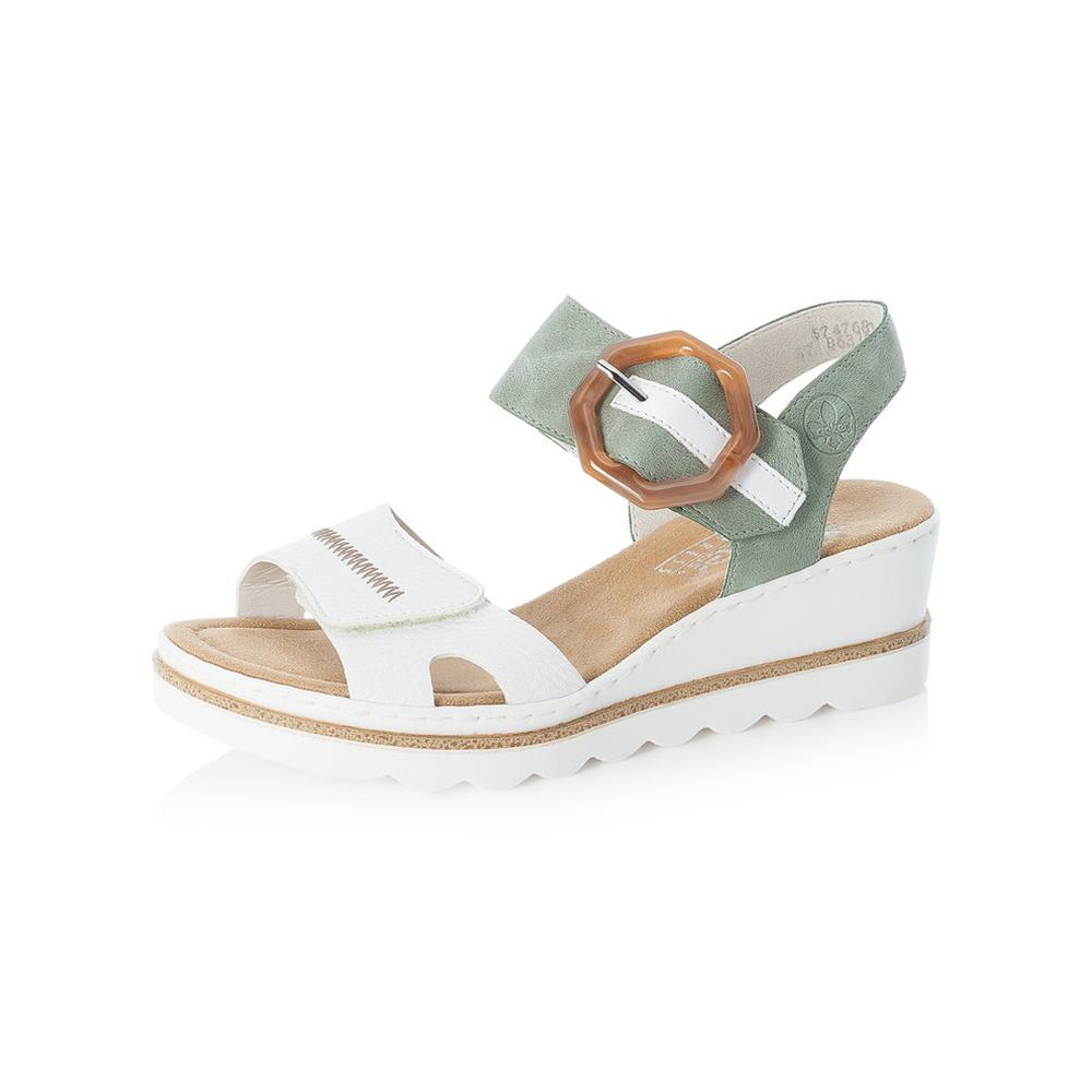 Rieker 67476-81 White mint sandal Sizes - 37 to 41 Price - £55 Now £45