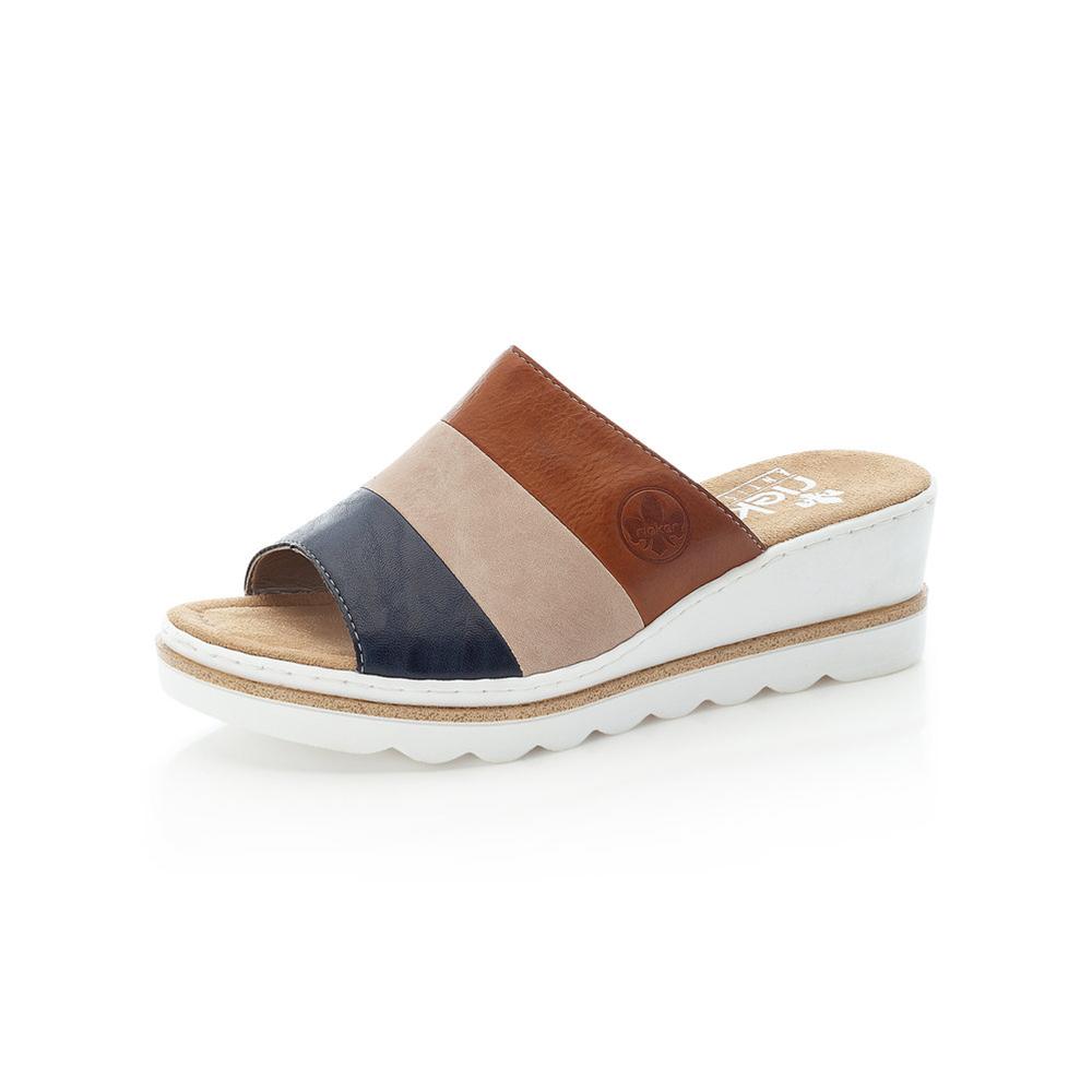 Rieker 67492-14 Navy tan wedge slide Sizes - 37 to 41 Price - £47 Now £39