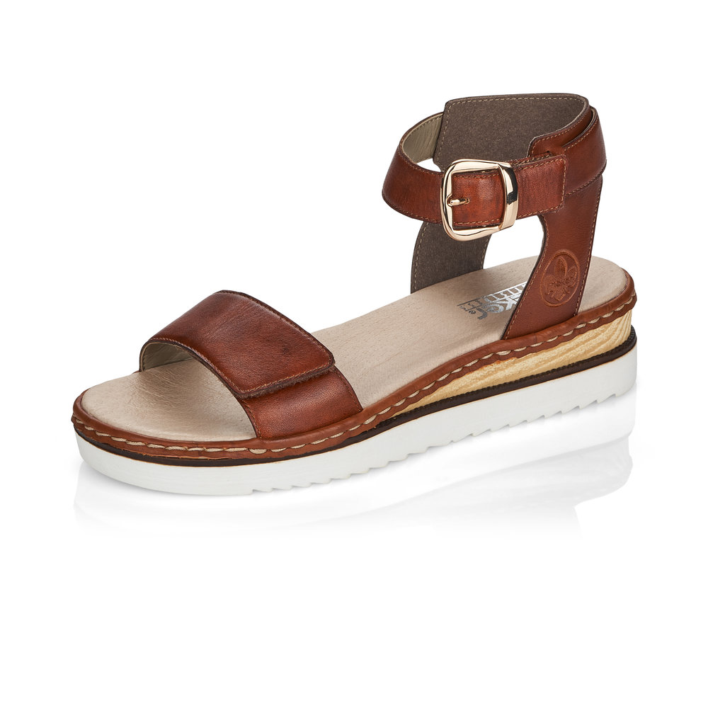 Rieker 67952-24 Peanut ankle strap sandal Sizes - 37 to 41 Price - £59
