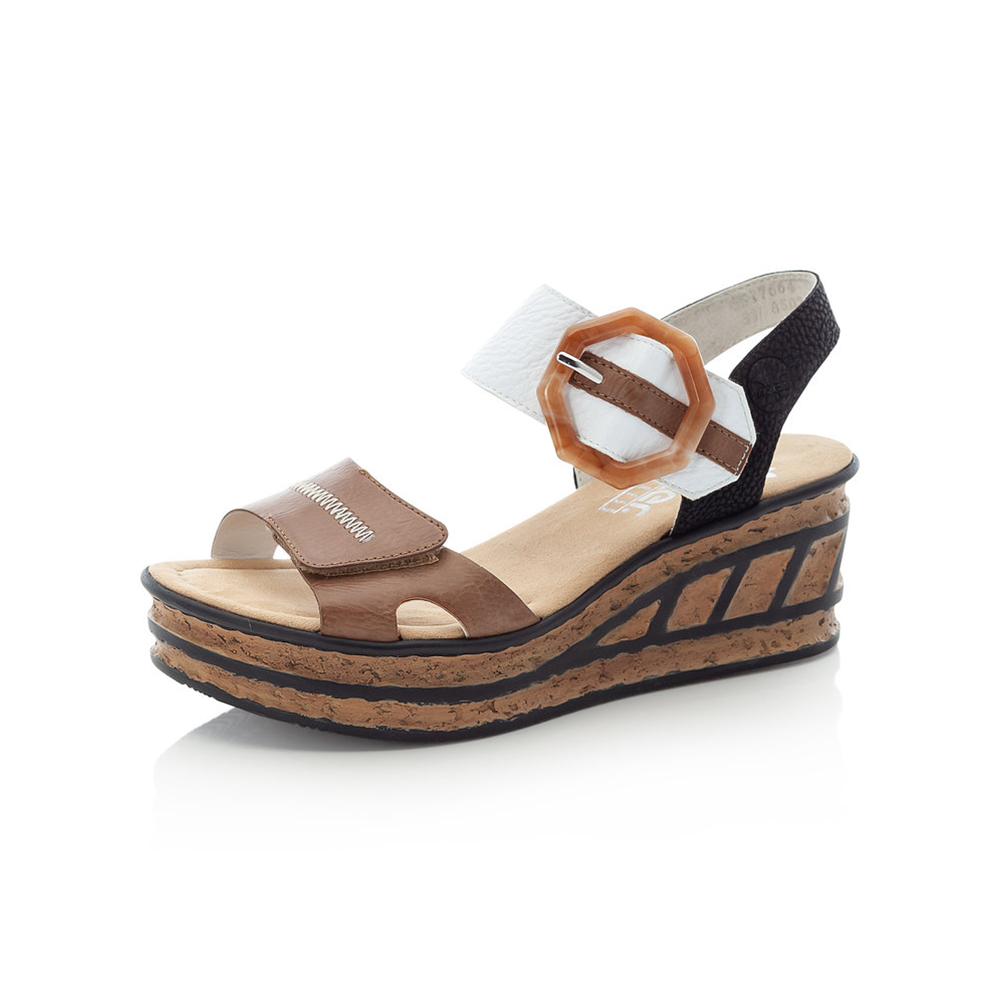 Rieker 68176-64 Multi strap wedge sandal Sizes - 37 to 41 Price - £55