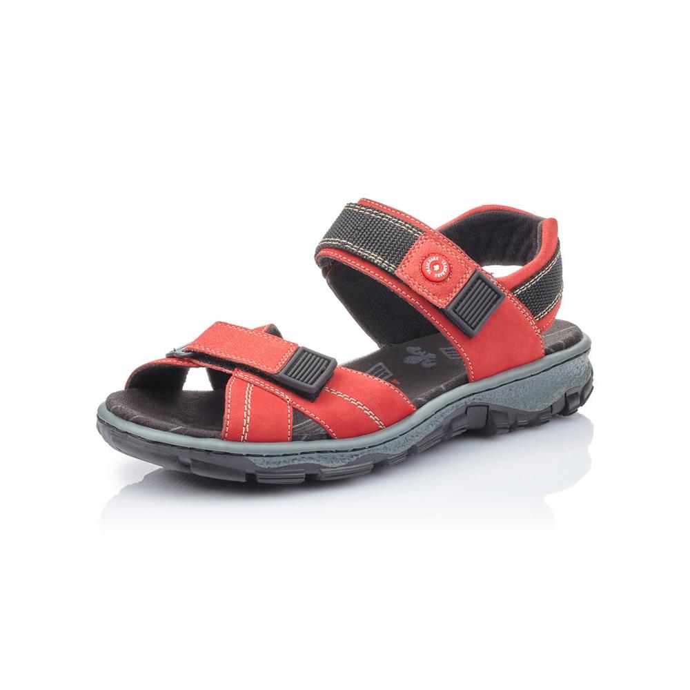 Rieker 68851-33 Red strap walking sandal Sizes - 36 to 41 Price - £57 Now £49