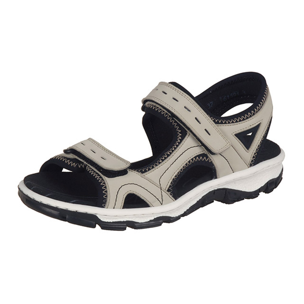 Rieker 68866-61 cream black hiker sandal Sizes - 37, 38, 40 and 41. Price - £55