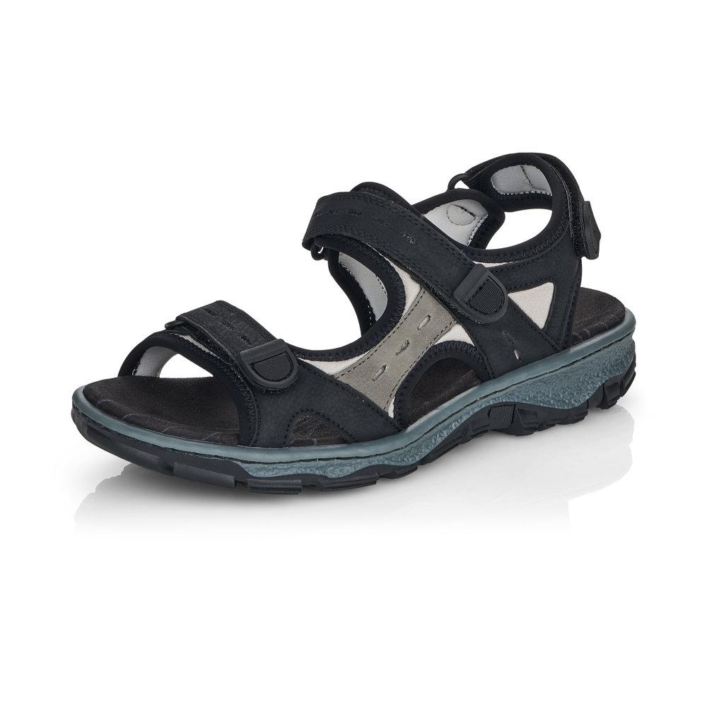 Rieker 68872-00 Black strap walking sandal Sizes - 37 to 42 Price - £59 Now £49