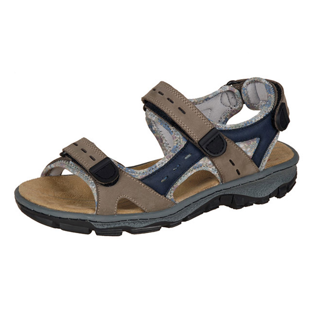 Rieker 68872-25 taupe blue hiker sandal Sizes - 39, 40 and 42. Price - £59