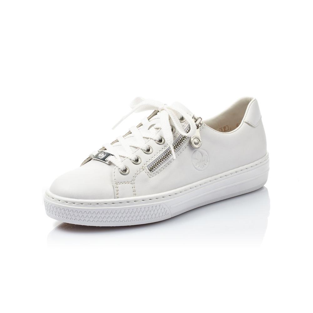 Rieker L59L1-80 White zip lace shoe Sizes - 37 to 42 Price - £62 NOW £49