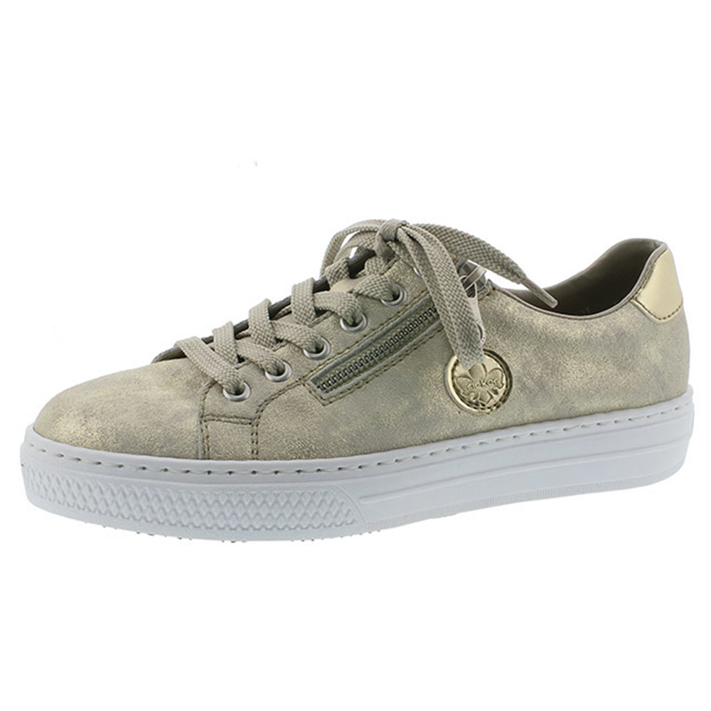 Rieker L59L8-62 metallic zip lace shoe  Sizes - 38, 39 and 40 only.   Price - £59