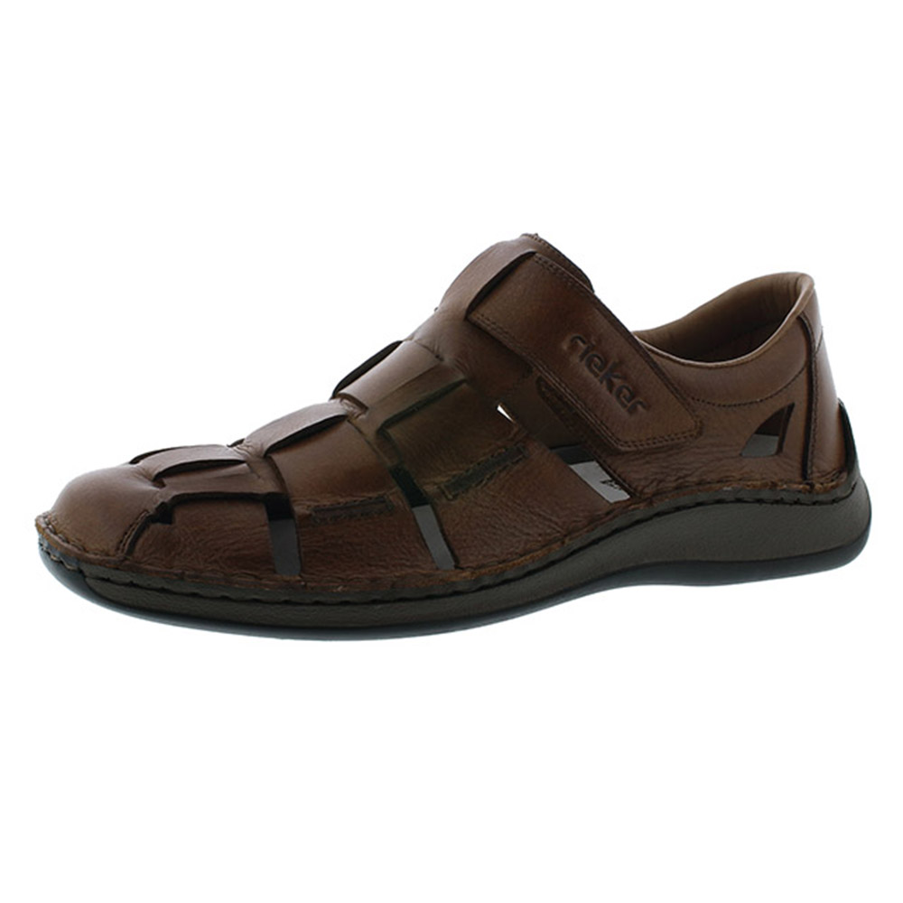 Rieker Mens 05273-25 Toffee brown sandal Sizes - 42, 43 and 45. Price - £67