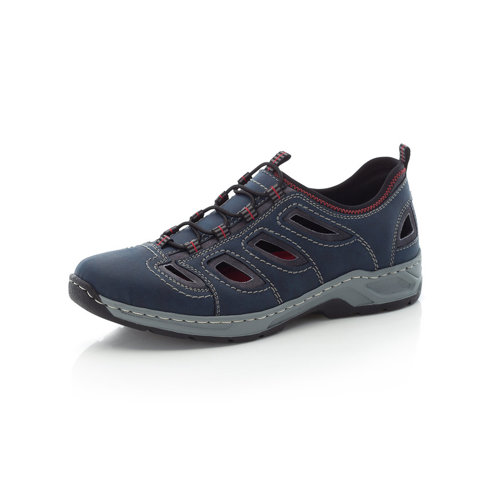 Rieker Mens 14266-14 Navy elastic lace shoe Sizes - 41 to 45 Price - £59