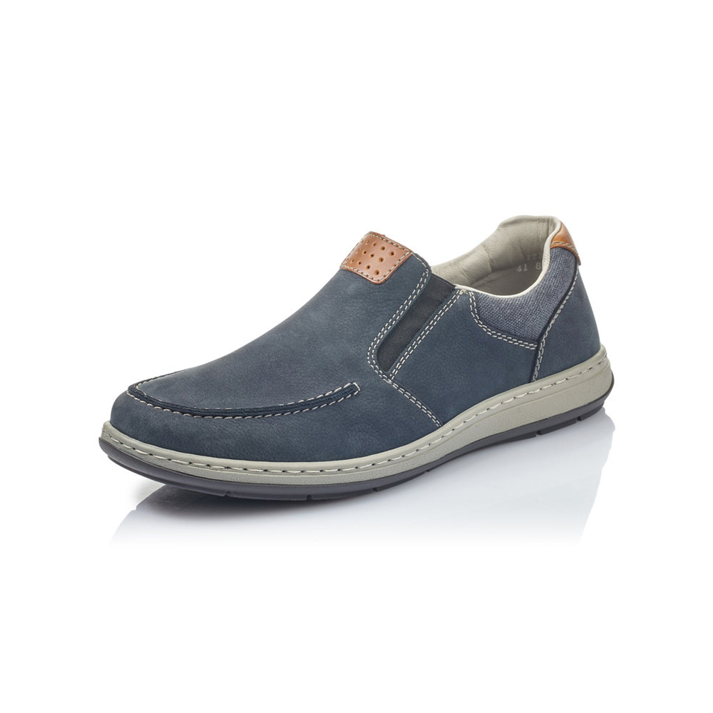 Rieker Mens 17360-15 Navy slip on shoe Sizes - 41 to 45 Price - £67