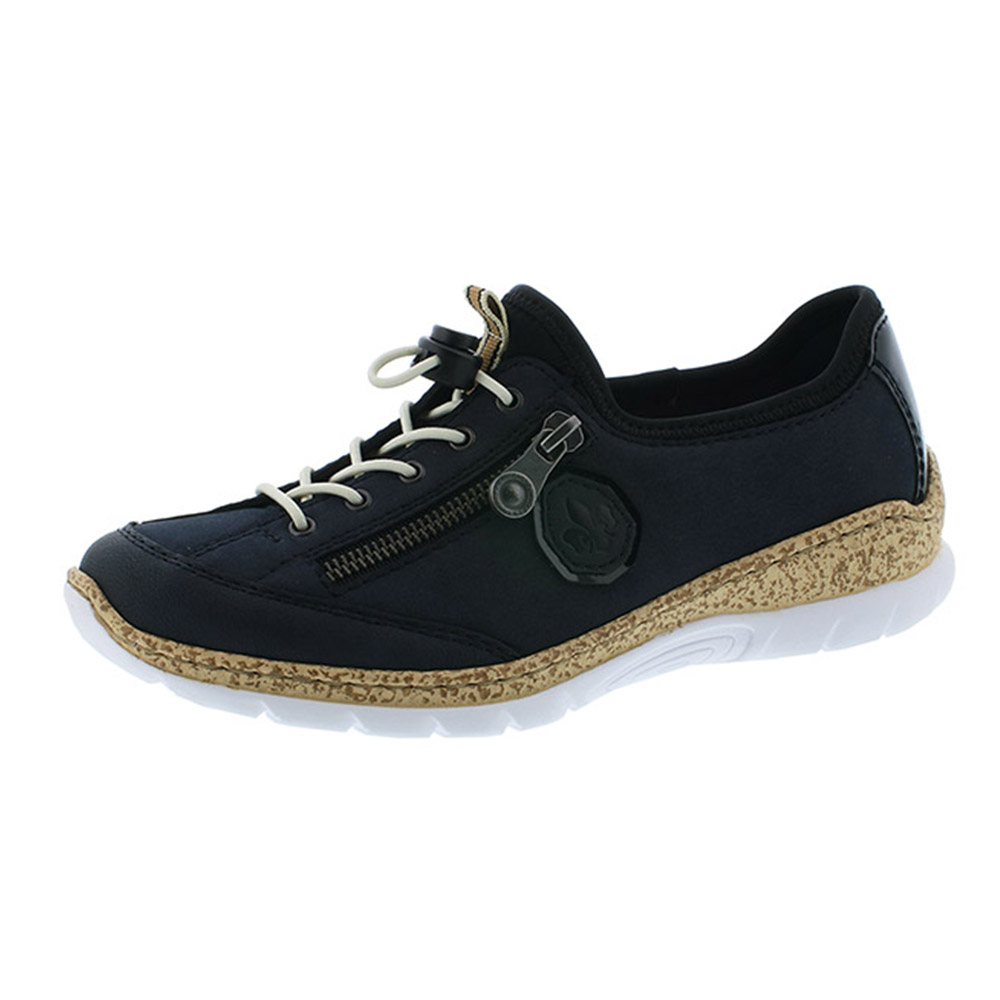 Rieker N4263-14 navy elastic shoe Sizes - 37 to 42 Price - £59.00