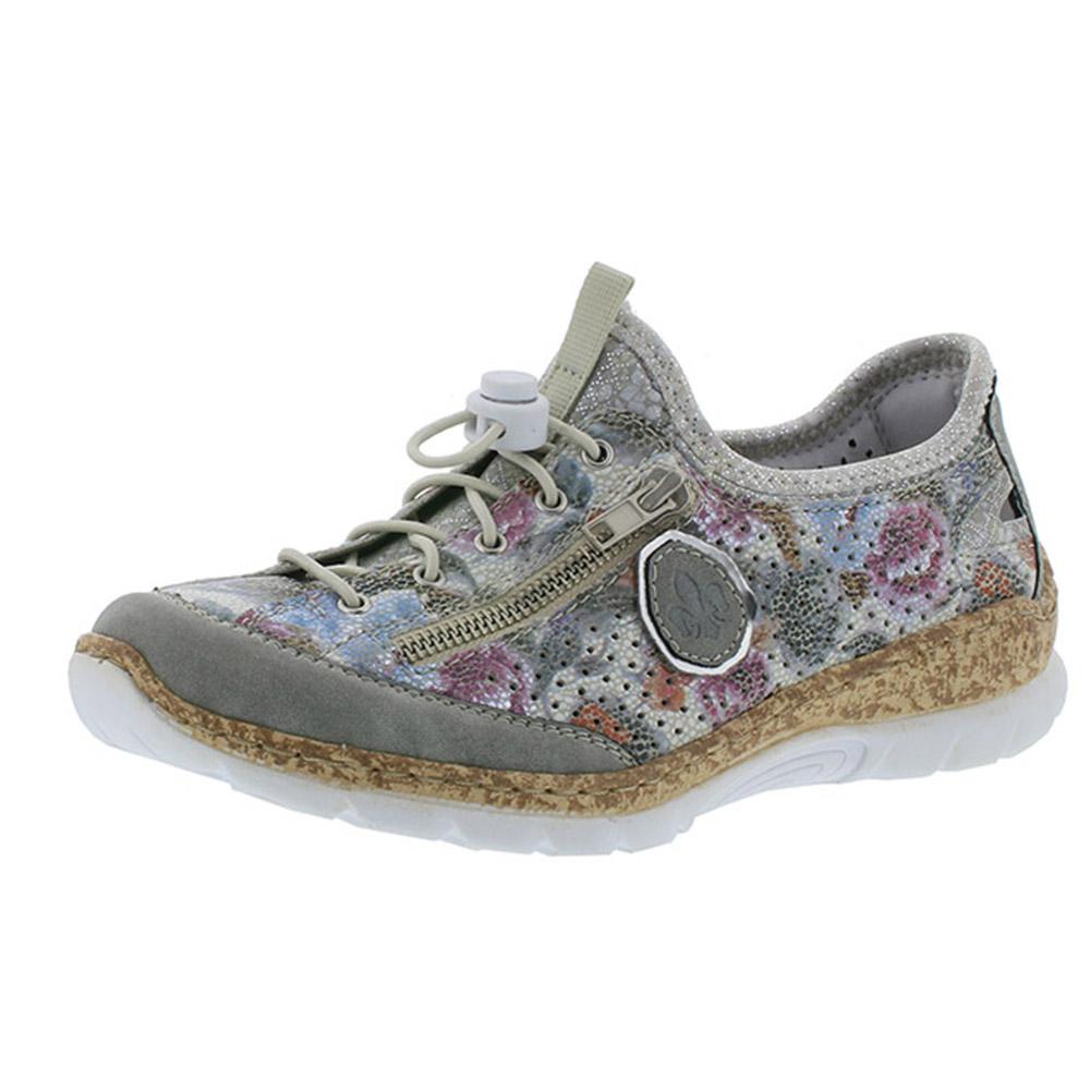 Rieker N42V1-40 flower multi elastic shoe Sizes - 36, 37 and 38. Price - £62 Now £49