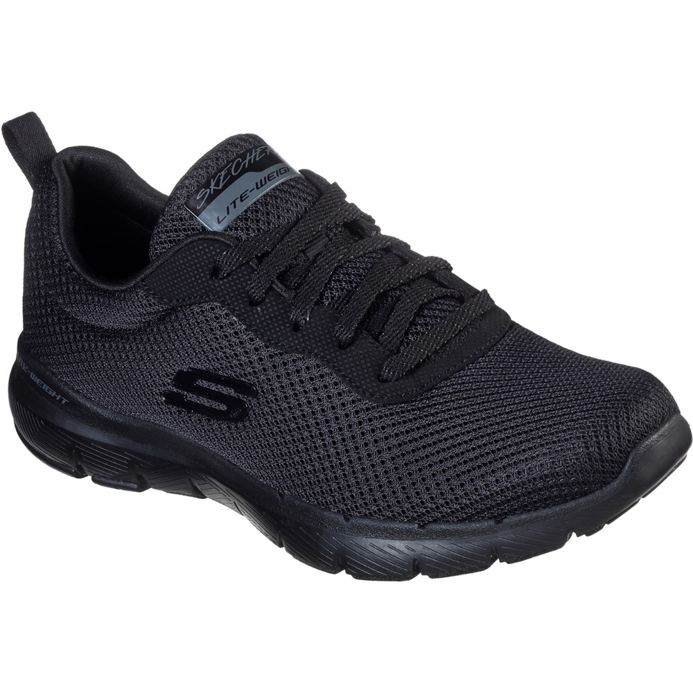 Skechers 13070 Flex Appeal 3 All Black Lace Sizes - 4 to 7 Price - £59