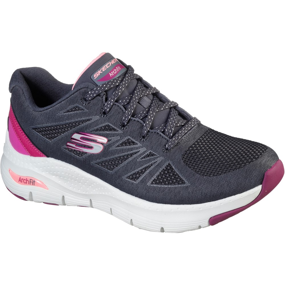 Skechers 149411 Arch Fit Charcoal Pink Lace Sizes - 5 and 6. Price - £79