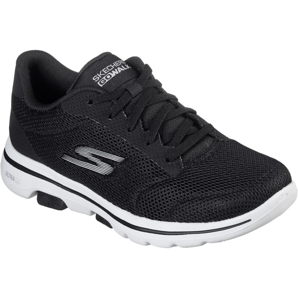 Skechers 15902 Go Walk 5 Black White lace Sizes - 4 to 7 Price - £59