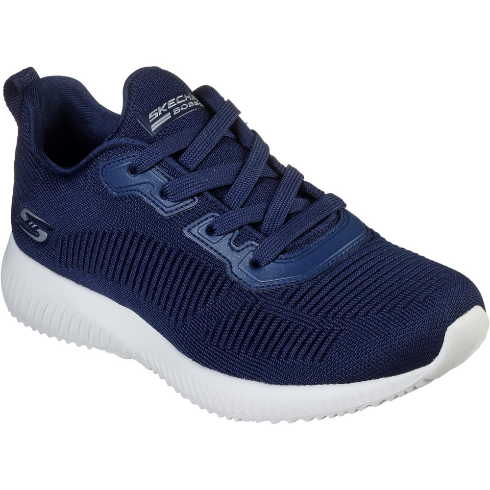 Skechers 32504 Bobs Squad Navy Knit Lace Sizes - Sold Out Price - £49