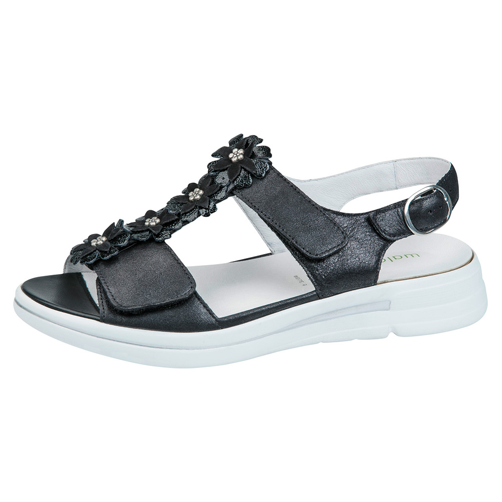 Waldlaufer 226004 G Sina black twin strap sandal Sizes - 5 to 8 Price - £69