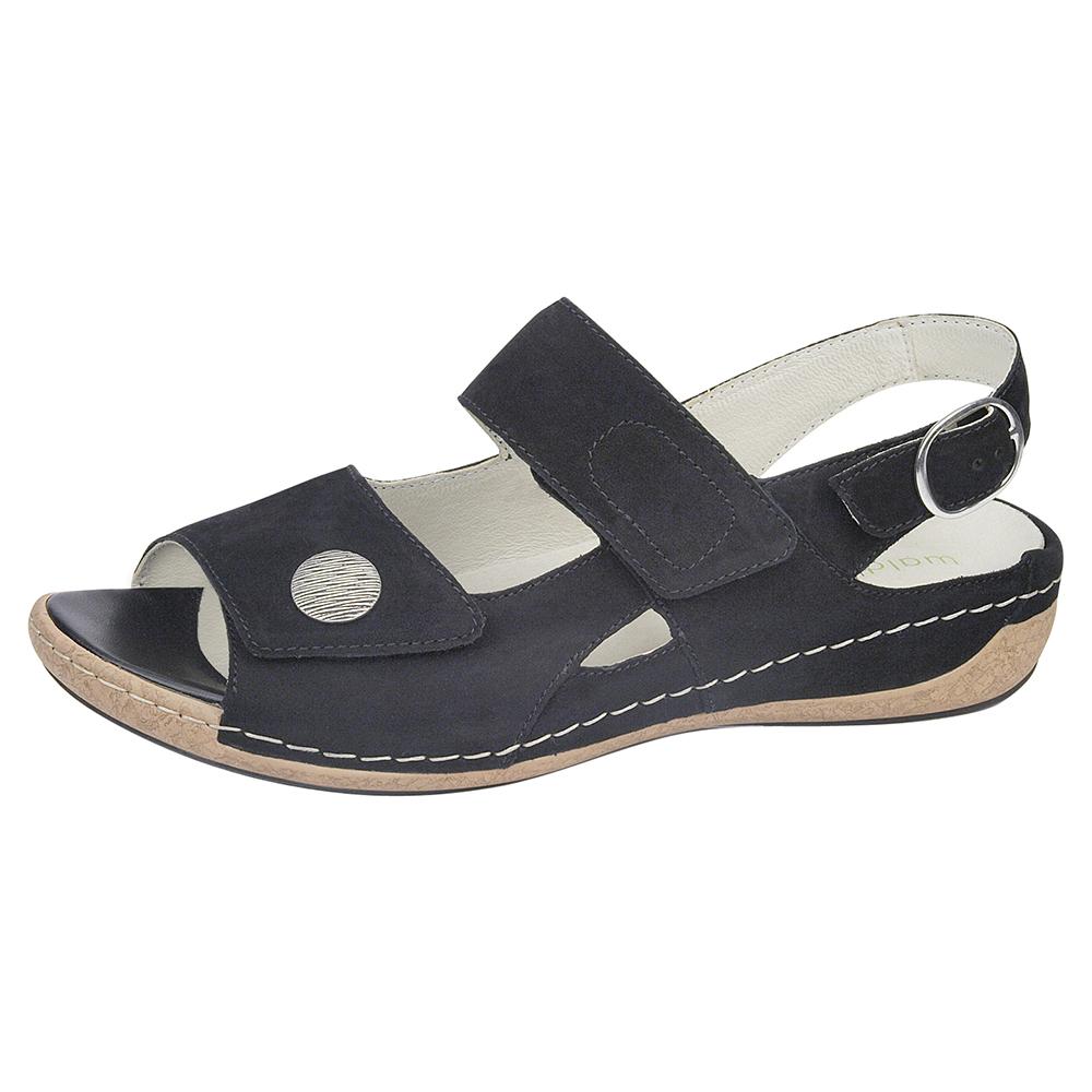 Waldlaufer 342002 Heliett black twin stap sandal Sizes - 4 to 7 Price - £62