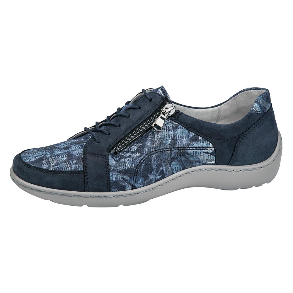 Waldlaufer 496042 Henni Marine multi lace zip shoe Sizes - 5 to 8 Price - £72