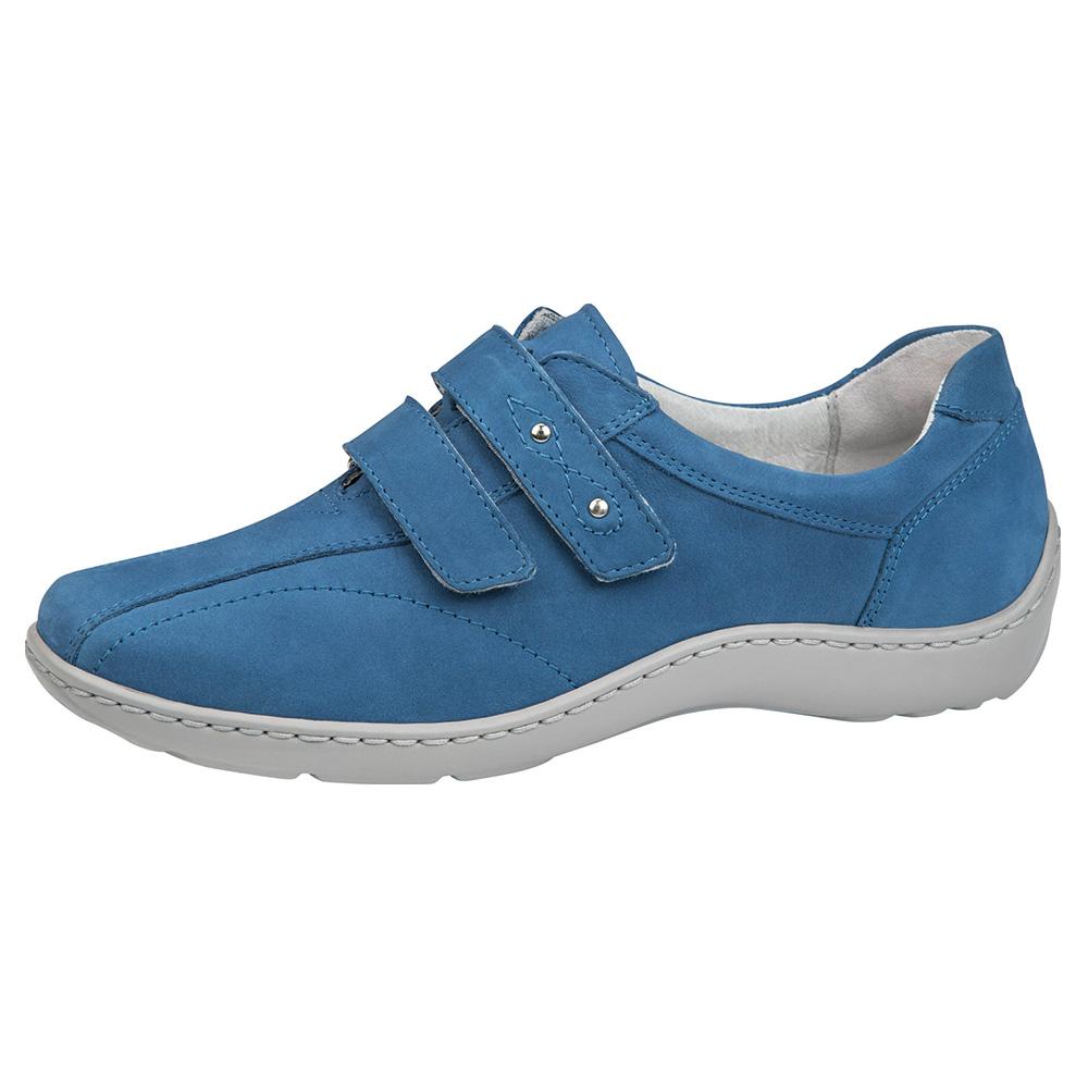 Waldlaufer 496301 Henni Saphire blue twin strap shoe Sizes - 4 to 7 Price - £75