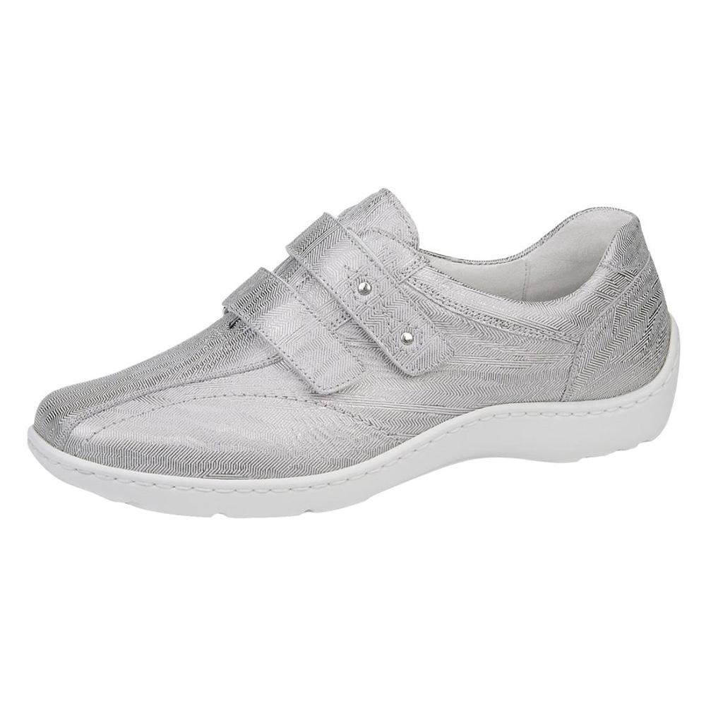Waldlaufer 496301 Henni light silver twin strap shoe Sizes - 4 to 7 Price - £75