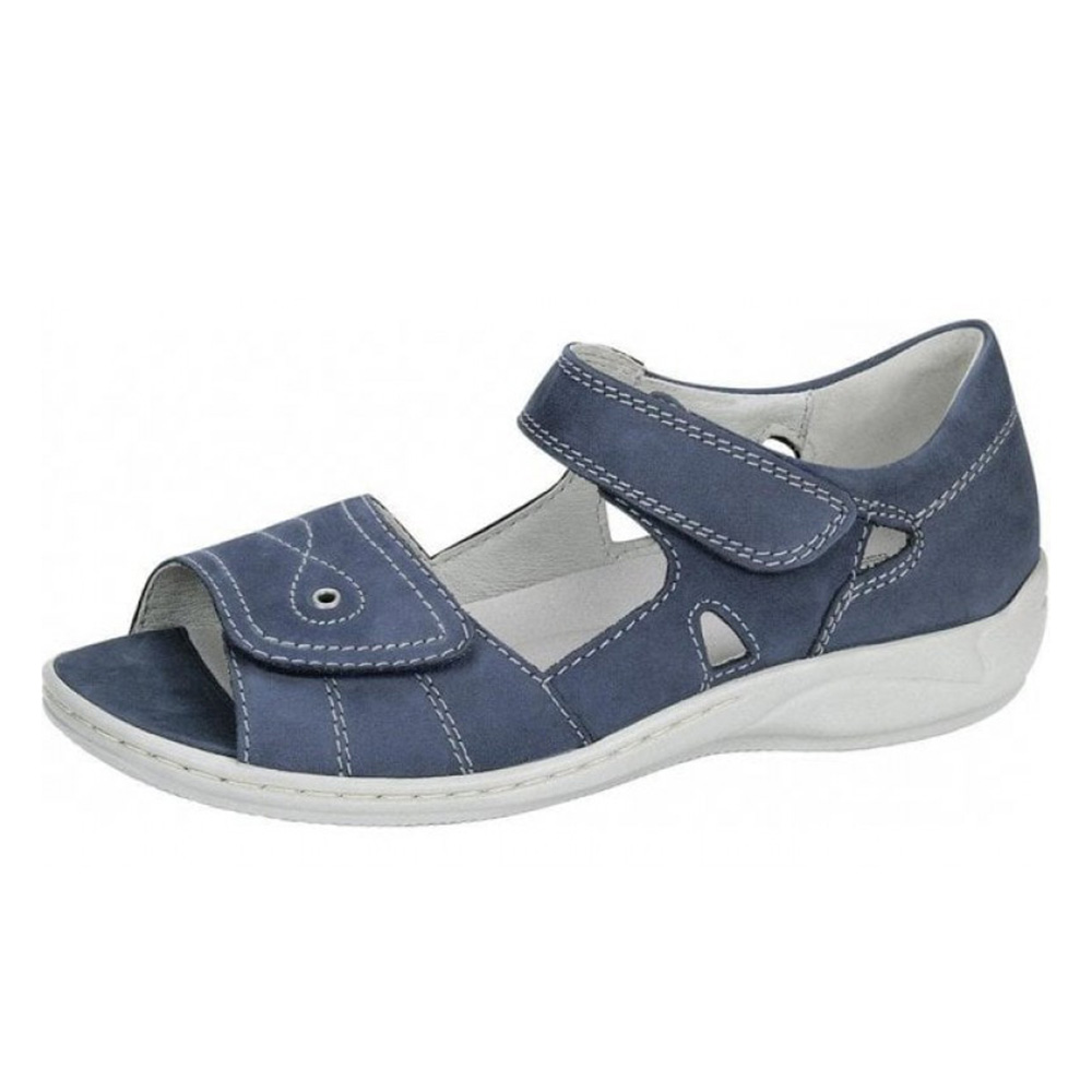 Waldlaufer 582028 Hilena Jeans blue twin strap sandal Sizes - 4 to 7 Price - £69