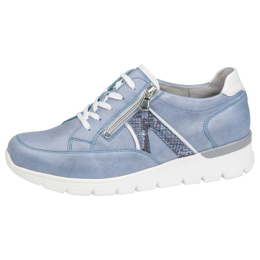 Waldlaufer 626001 K Ramona Sky blue lace zip shoe Sizes - 4 to 7 Price - £79